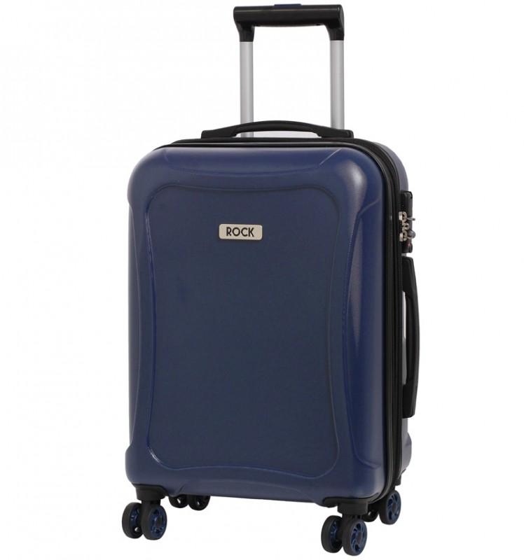 Rock TECTONIC Rozšířitelné kabinové zavazadlo z extra odolného Duralitonu 54cm (tmavě modré)