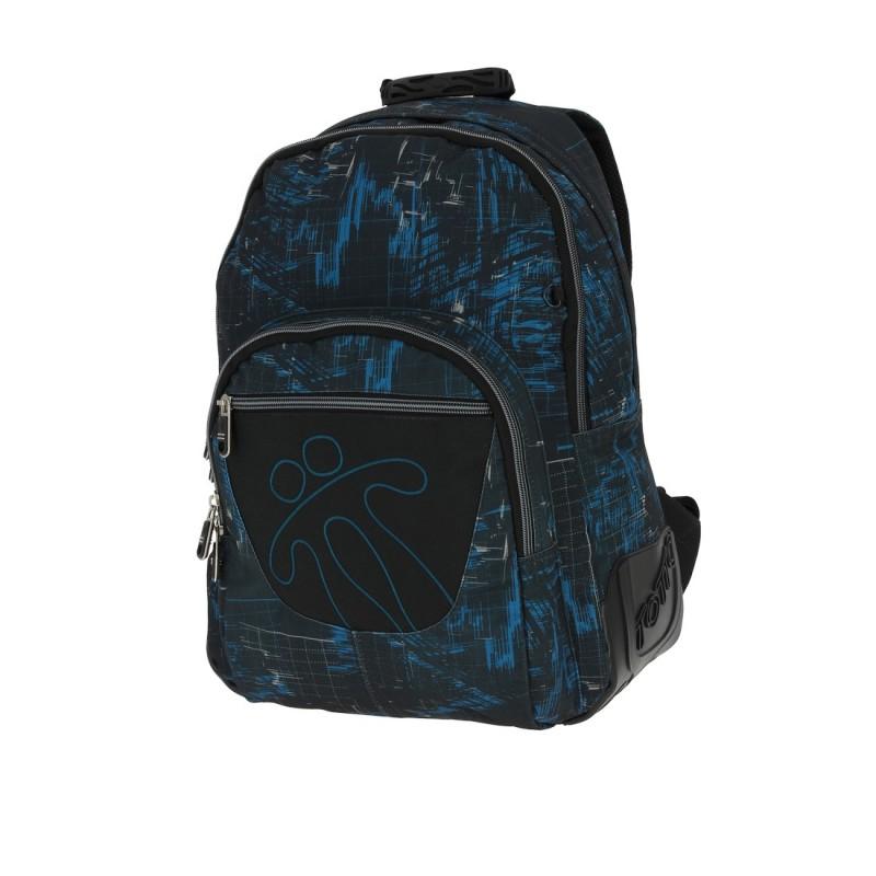 Totto CRAYOLA Školní batoh dvoukomorový (Blue Impulse)