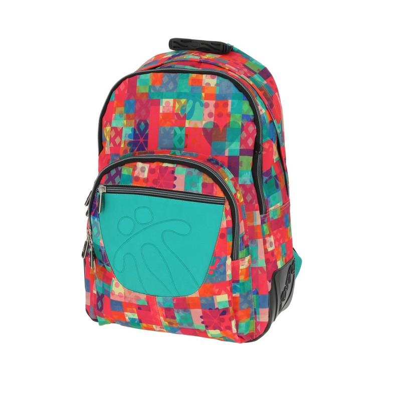 Totto CRAYOLA Školní batoh dvoukomorový (Multicolor Patchwork)