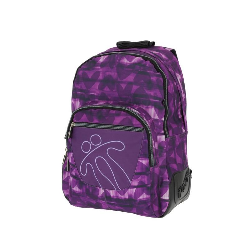 Totto CRAYOLA Školní batoh dvoukomorový (Purple Hearts)