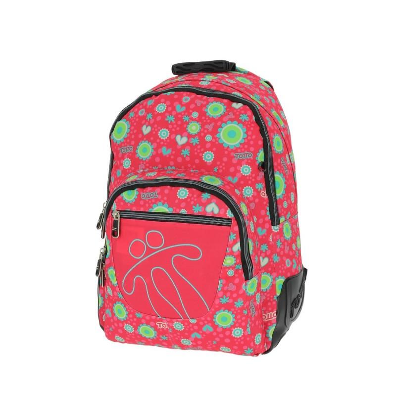 Totto CRAYOLA Školní batoh dvoukomorový (Hippie Flowers)