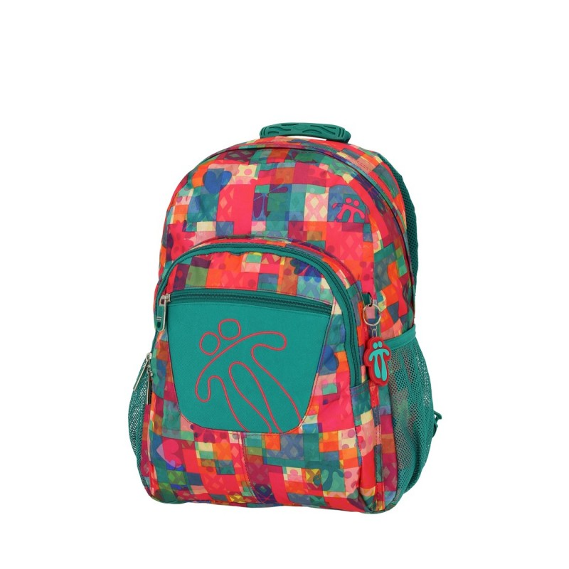Totto ACUARELES Školní batoh jednokomorový (Multicolor Patchwork)
