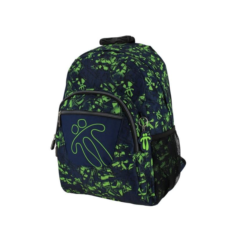 Totto ACUARELES Školní batoh jednokomorový (Black/yellow Grid)