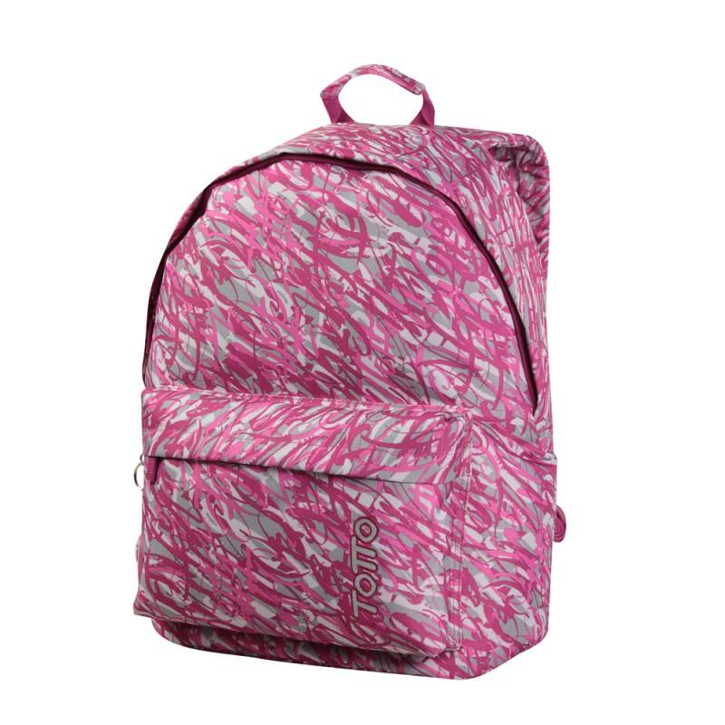 Totto CAXIUS Designový batoh (Pink Scribble)