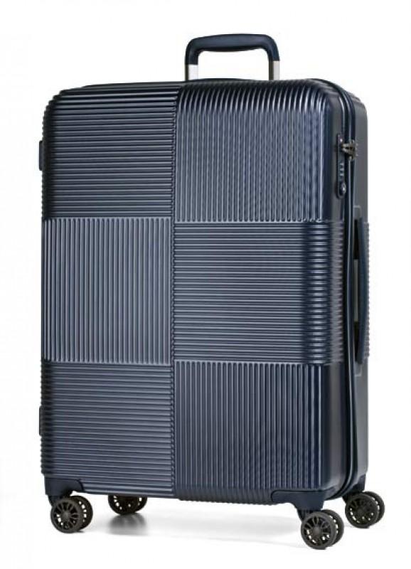 March AVENUE Luxusní palubní polykarbonový kufr 55cm (Dark blue)