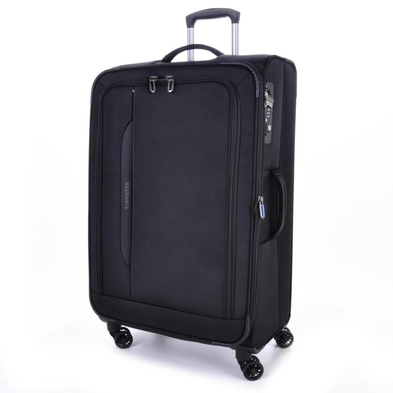 Travelite CROSSLITE Špičkový velký kufr na 4 kolečkách (Black)