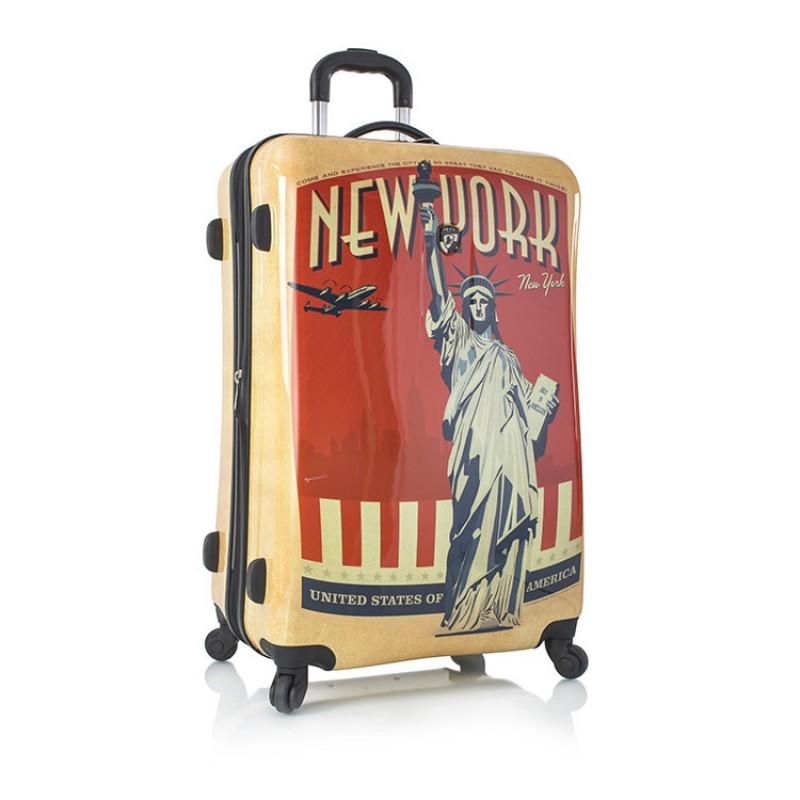 Heys VINTAGE TRAVELER Módní skořepinový kufr v retro stylu - New York