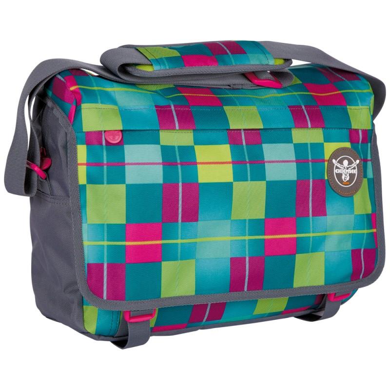 Chiemsee BASE Velká taška přes rameno - Karo blue cabaret