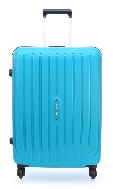 Travelite UPTOWN Extrémě pevný a lehký kufr 65 cm, M (Petrol)