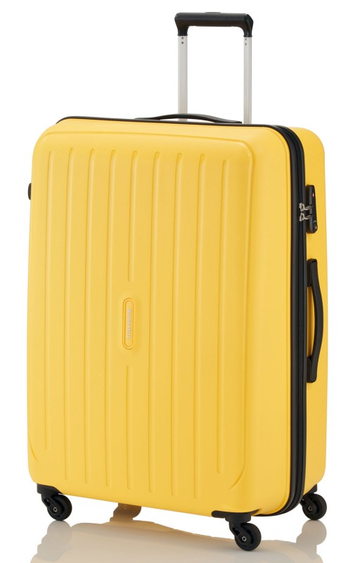 Travelite UPTOWN Extrémě pevný a lehký kufr 65 cm, M (Yellow)