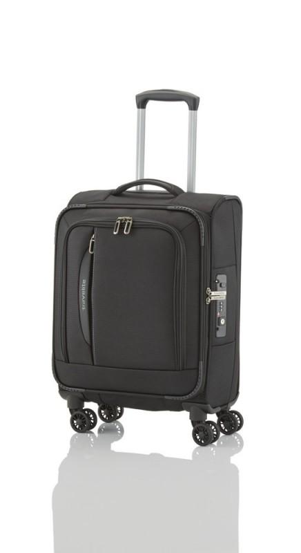 Travelite CROSSLITE Špičkový textilní kufr na 4 kolečkách (Black)