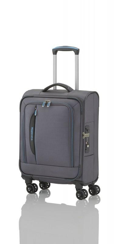 Travelite CROSSLITE Špičkový textilní kufr na 4 kolečkách (Anthracite)