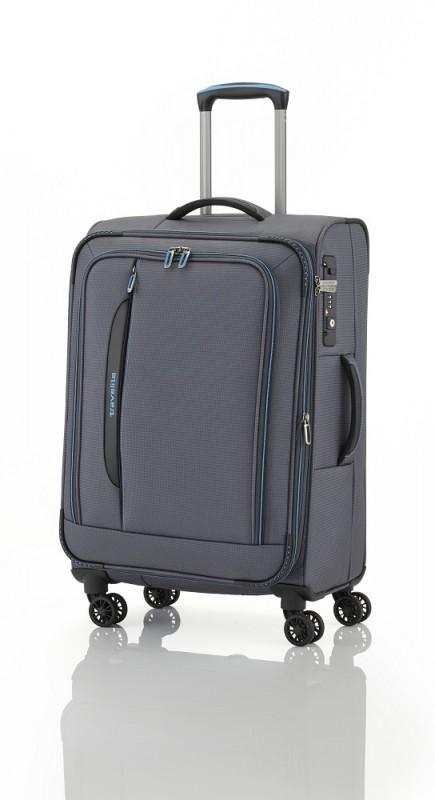 Travelite CROSSLITE Špičkový středně velký kufr na 4 kolečkách (Anthracite)