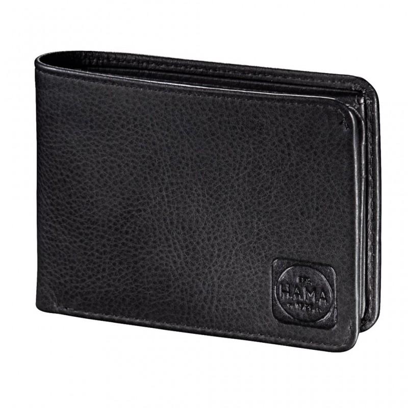 Hama AMSTERDAM Pánská kožená peněženka s ochranou dat CRYPTALOY H2C (Černá)