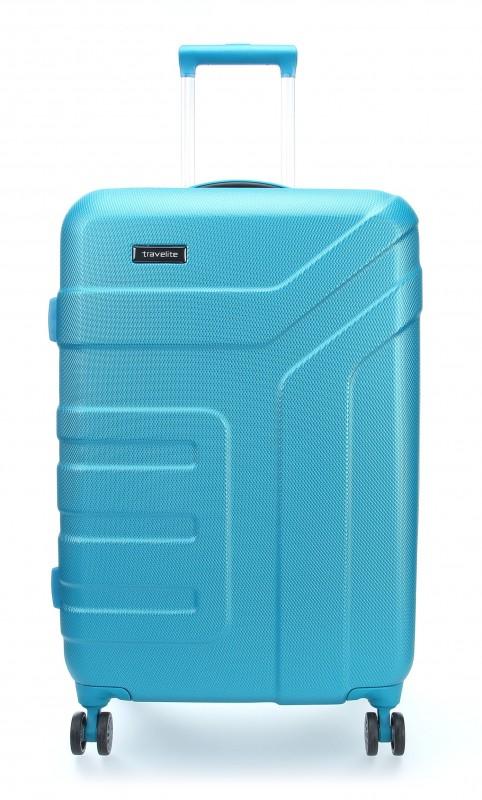 Travelite VECTOR Moderní kufr na čtyřech kolečkách 70 cm (Turquoise)