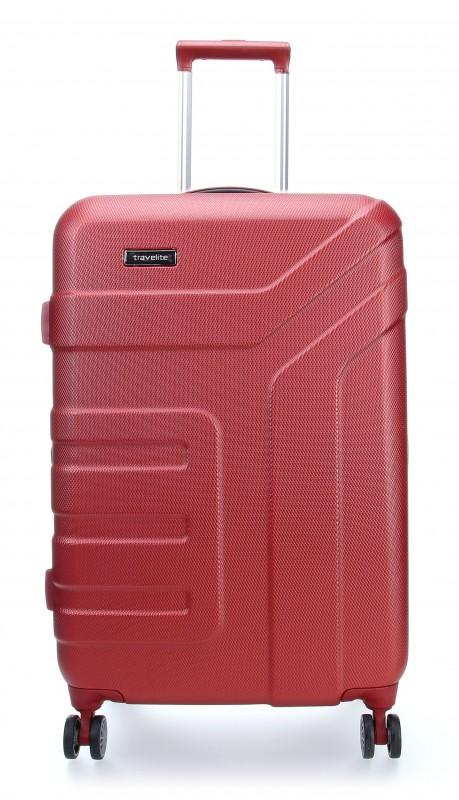 Travelite VECTOR Moderní kufr na čtyřech kolečkách 70 cm (Coral)
