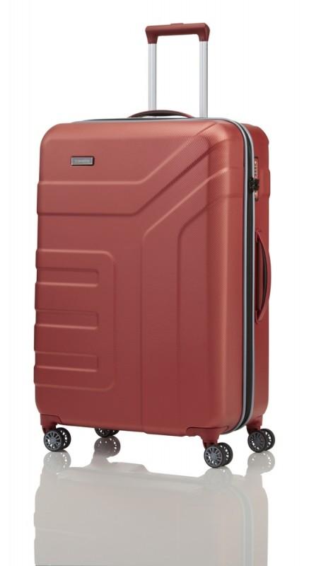 Travelite VECTOR Moderní kufr na čtyřech kolečkách 77 cm (Coral)