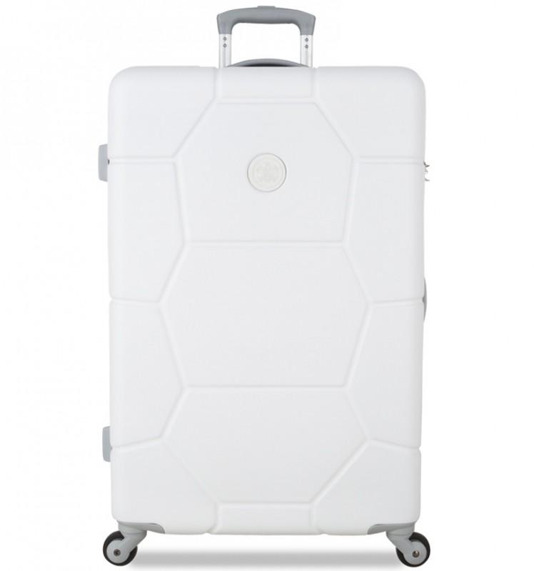 SuitSuit CARETTA Velký cestovní kufr z ABS 75 cm (Sea Shell White)