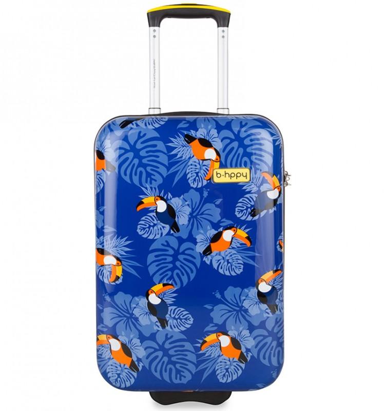 B.HPPY Designový kabinový kufr 52cm - I can Toucan