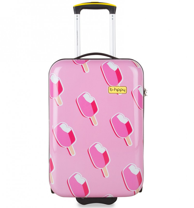 B.HPPY Designový kabinový kufr 52cm - Ice on Holiday