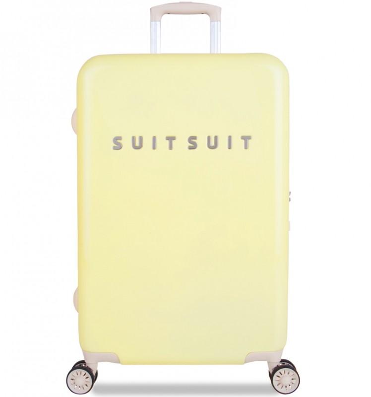 SuitSuit FABULOUS FIFTIES Jednoduchý kvaltitní kufr 67 cm (Mango Cream)