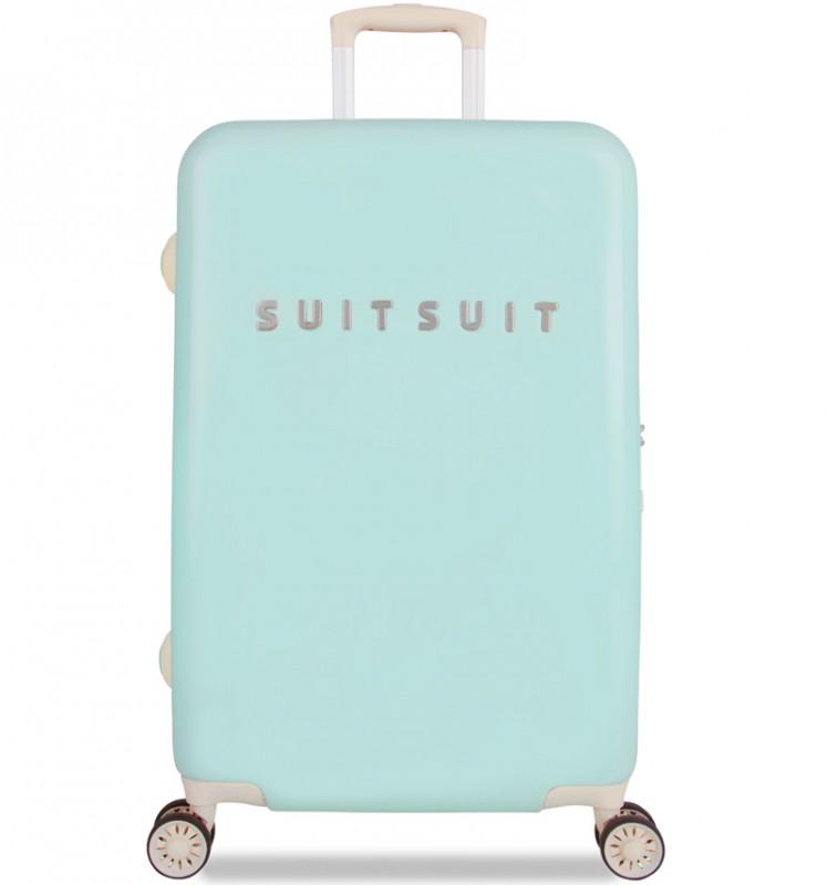 SuitSuit FABULOUS FIFTIES Jednoduchý kvaltitní kufr 67 cm (Luminous Mint)