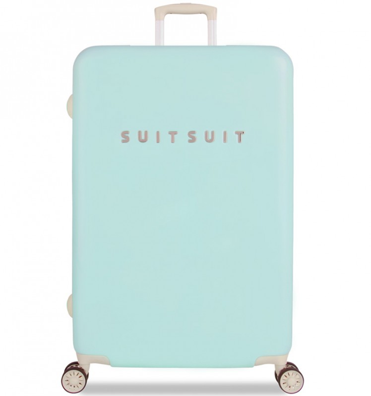 SuitSuit FABULOUS FIFTIES Jednoduchý kvaltitní kufr 77 cm (Luminous Mint)