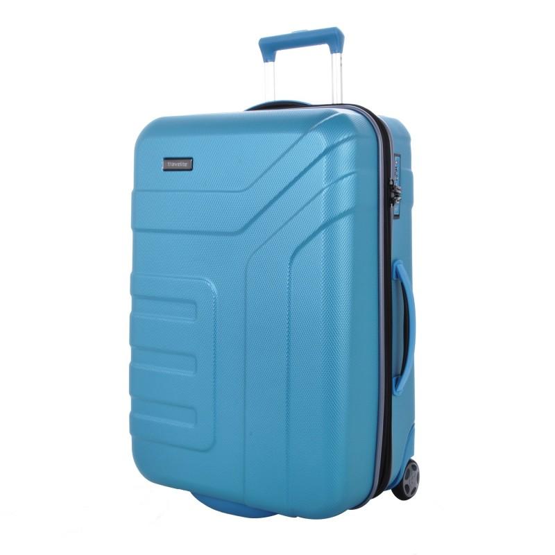 Travelite VECTOR Moderní dvoukolečkový kufr z ABS 64 cm (Turquoise)