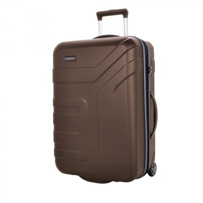 Travelite VECTOR Moderní dvoukolečkový kufr z ABS 64 cm (Brown)