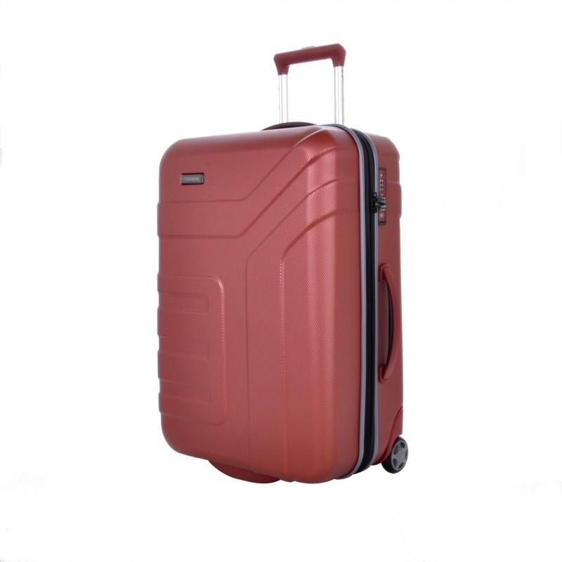 Travelite VECTOR Moderní dvoukolečkový kufr z ABS 64 cm (Coral)