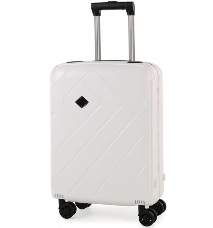 Rock SHIELD Bezzipový palubní kufr 56cm (bílá)
