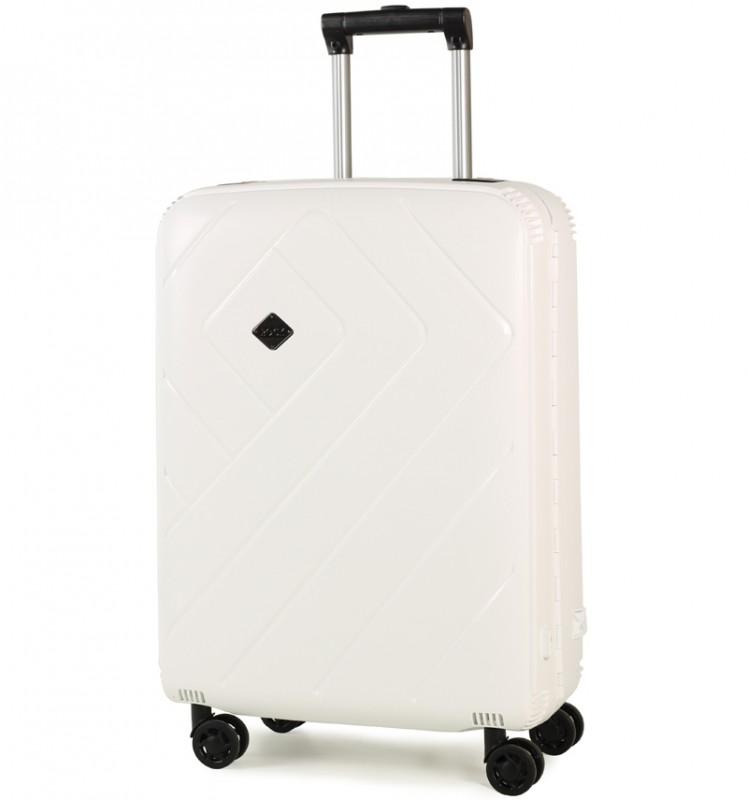 Rock SHIELD Bezzipový středně velký kufr 66cm (Bílá)