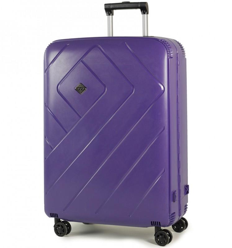 Rock SHIELD Bezzipový velký kufr 76cm (modrá)