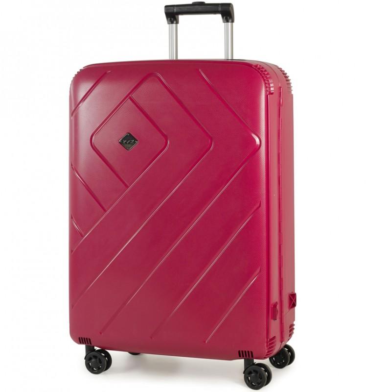 Rock SHIELD Bezzipový velký kufr 76cm (burgundy)