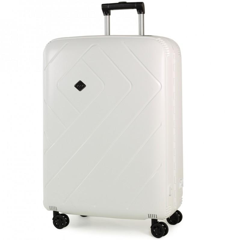 Rock SHIELD Bezzipový velký kufr 76cm (bílá)