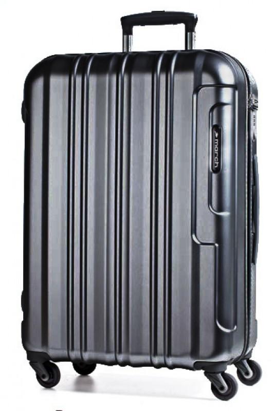 March COSMOPOLITAN Luxusní cestovní kufr 66cm, M (Black alu)