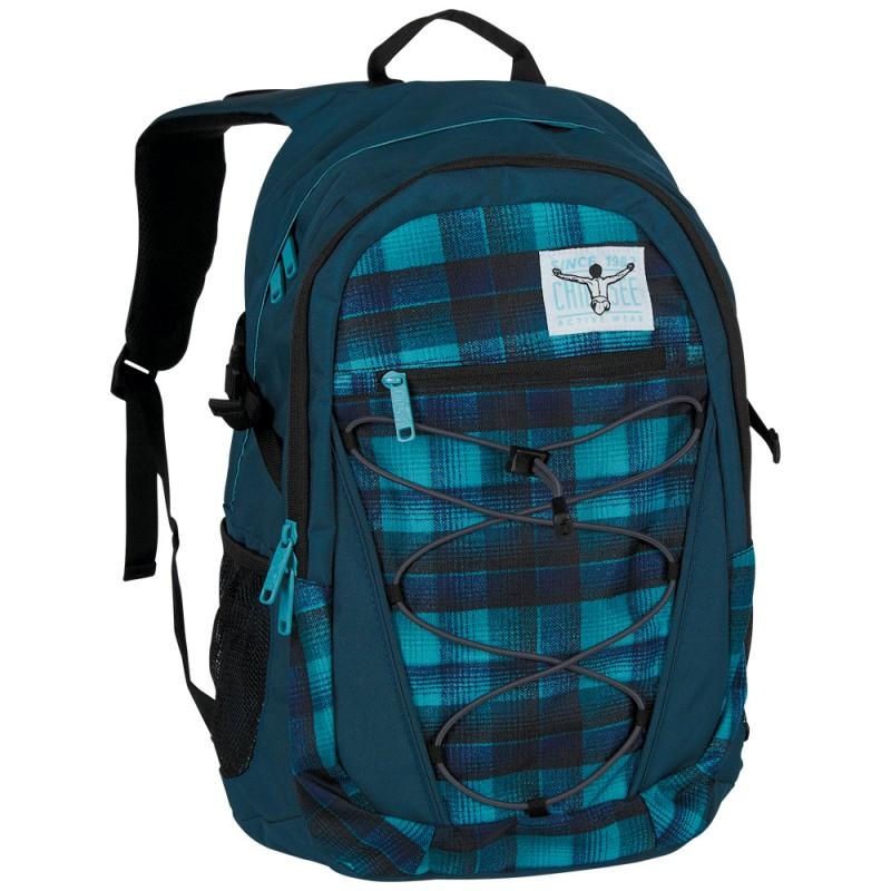 Chiemsee HERKULES Studentský batoh na NTB 15 - Checky chan blue