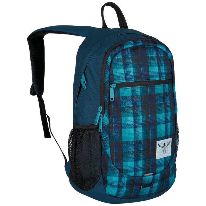 Chiemsee TECHPACK TWO Funkční studentský batoh - Checky chan blue