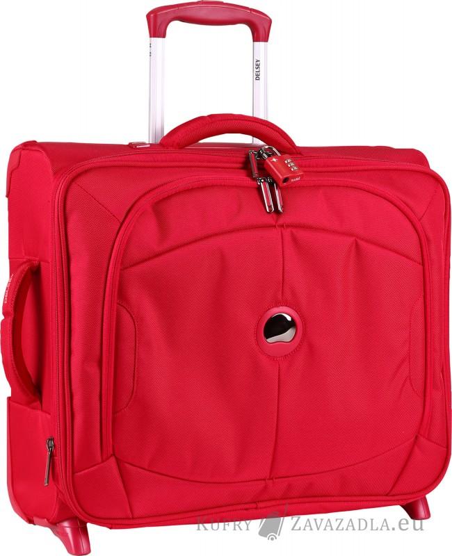 Delsey U-LITE Kabinový horizontální kufr expandable 2 kolečka (červený)