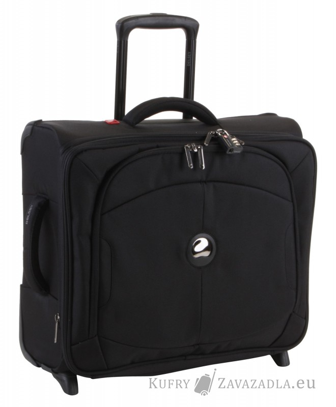 Delsey U-LITE Kabinový horizontální kufr expandable 2 kolečka (černý)