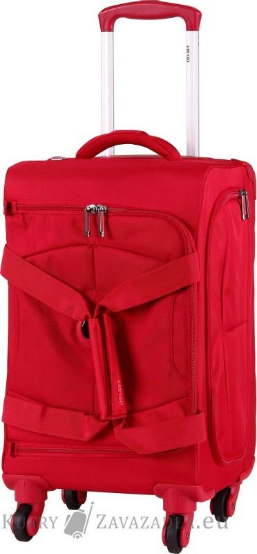 Delsey U-LITE Cestovní taška kabinová trolley 4 kolečka 55 cm (červená)