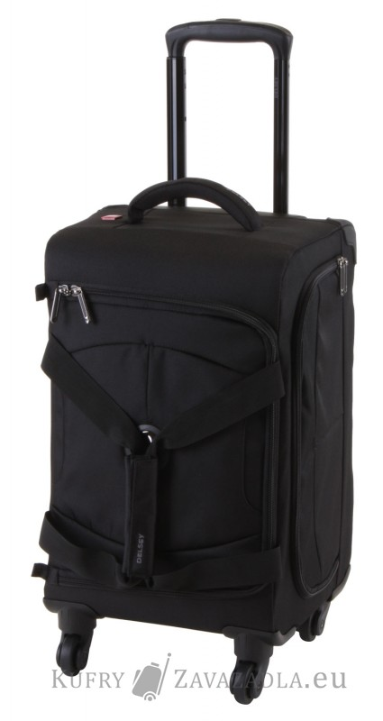 Delsey U-LITE Cestovní taška kabinová trolley 4 kolečka 55 cm (černá)