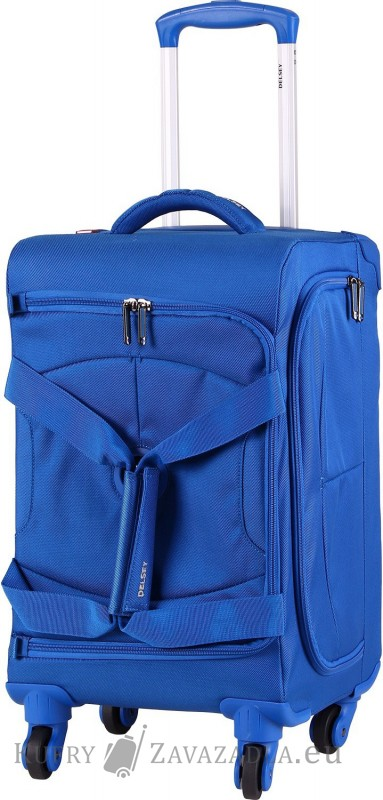 Delsey U-LITE Cestovní taška kabinová trolley 4 kolečka 55 cm (modrá)