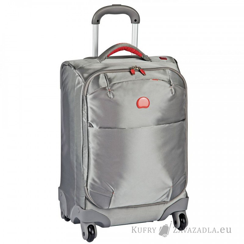 Delsey FOR ONCE Kabinový kufr trolley 4 kolečka 55 cm (stříbrněšedá)