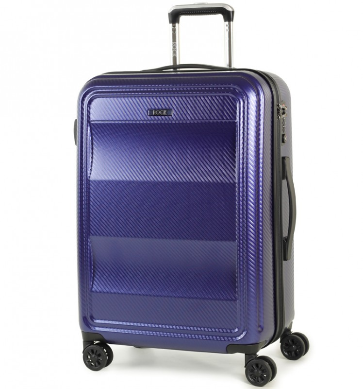 Rock AMETHYST Cestovní kufr na zdvojených kolečkách 64cm (modrá)