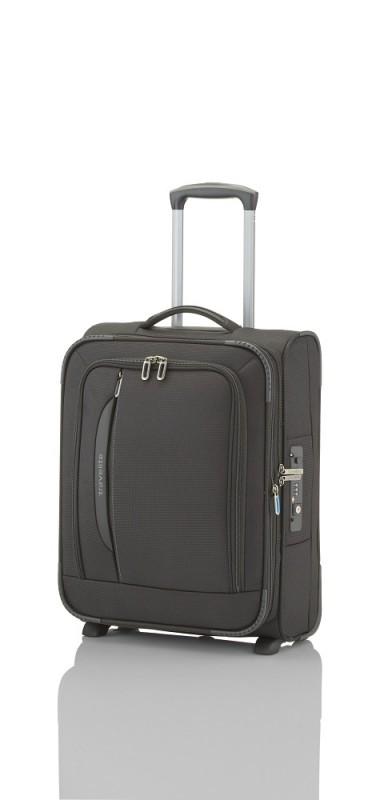Travelite CROSSLITE Špičkový textilní kufr na 2 kolečkách (Black)