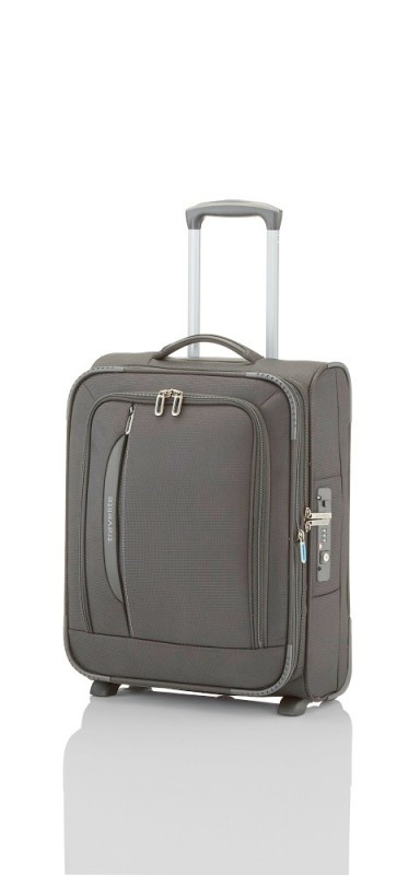 Travelite CROSSLITE Špičkový textilní kufr na 2 kolečkách (Anthracite)