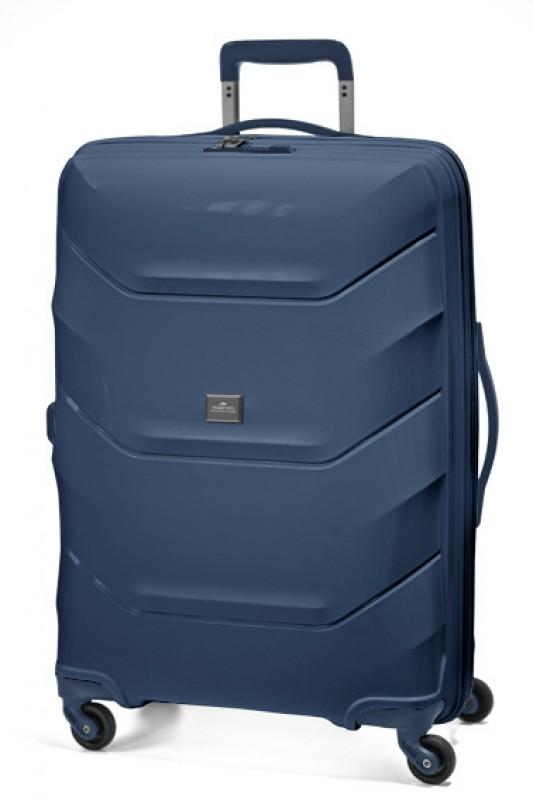 March VIENNA Velký kufr 77cm (Blue)
