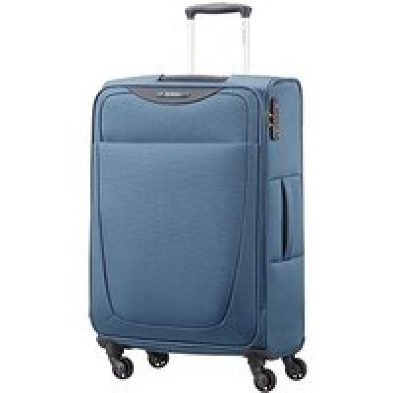 Samsonite BASE HITS Spinner rozšiřitelný kufr 66 cm (Steel Blue)