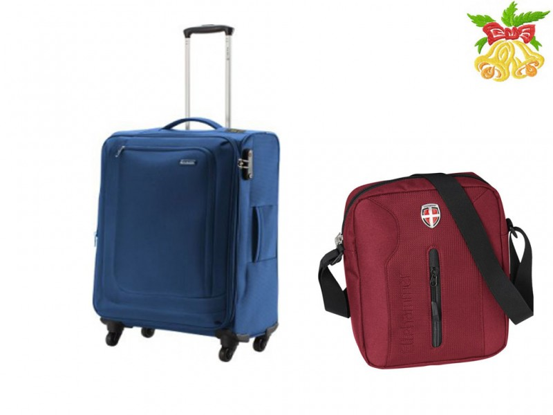 Carlton CLIFTON Spinner 4w 55cm (blue) + Ellehammer BERGEN Brašna na tablet (red)